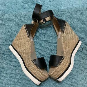 See By Chloé Platform Espadrille Wedge Sandals